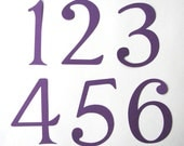 Worksheets Large Numbers 1-10 items similar to large numbers 1 10 in purple great for table weddings