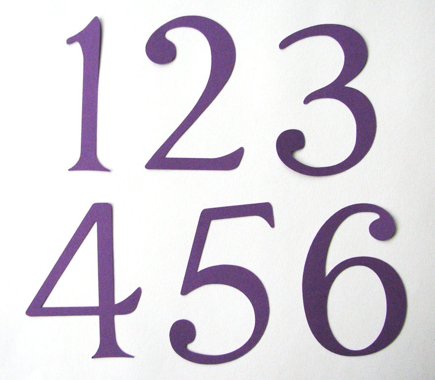Large Numbers 1-10 in purple Great for table numbers by beecrafty0