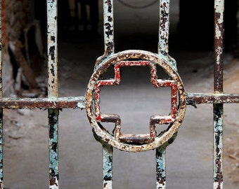 Fine Art Photography, Eastern State Penitentiary, Hospital Ward, Rust and Metal, 11X14 Mat, Ready to Frame, Wall Art, Wall Hanging