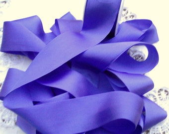 Pure Silk Ribbon  Violet Color 1  1/2 inch  36mm wide 5 yards  LIMITED
