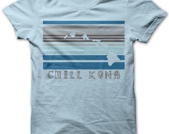 Chill Kona by Chill Clothing on Light Blue