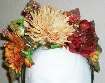 The Fairy in My Garden - floral crown, fairy, festival, garden