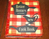 Better Homes and Gardens New Cook Book,  1953 First Edition, First Printing, with original dust cover