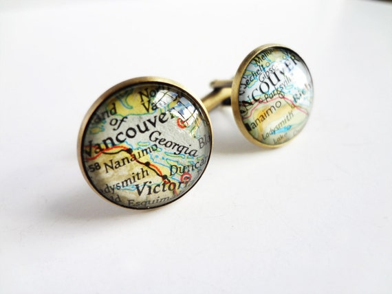Custom cufflinks - New York and Sydney for Heidi