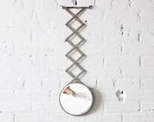 scissor vanity mirror / adjustable wall mirror