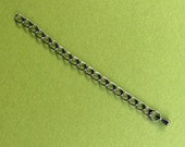 8 Closed Link Gunmetal Extension Chains -- 3 inches long