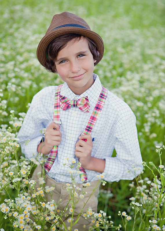 The Beau-  bow tie and suspender set for boys of all ages- choose ANY print in our shop