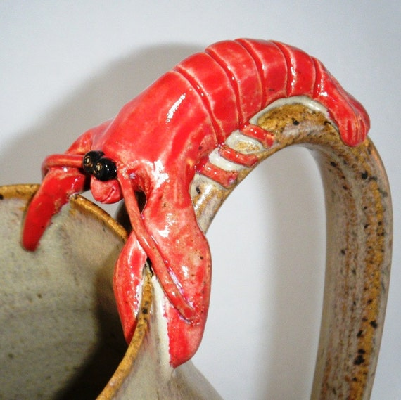 Lobster Mug Red Hot and Ready to Eat