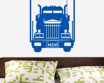 Custom Semi Truck with your NAME Vinyl Decal Lettering Sticker 20X30