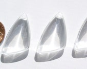 Vintage Japanese - Clear LG Triangular Lucite Beads - MI377