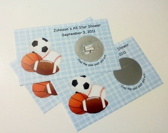 24 Sports Themed Scratch Off Tickets
