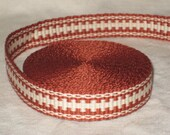 Rust and white inkle woven trim (over 14 feet)