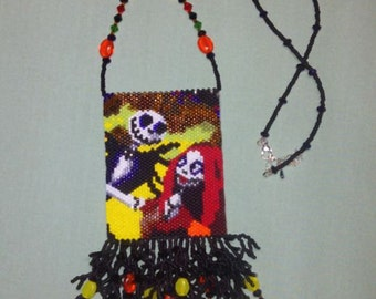 Goulish Love Beaded Amulet Pouch Necklace