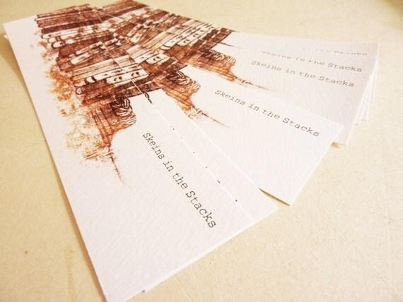 Custom design Bookmarks Yarn Labels - reserved for Anna