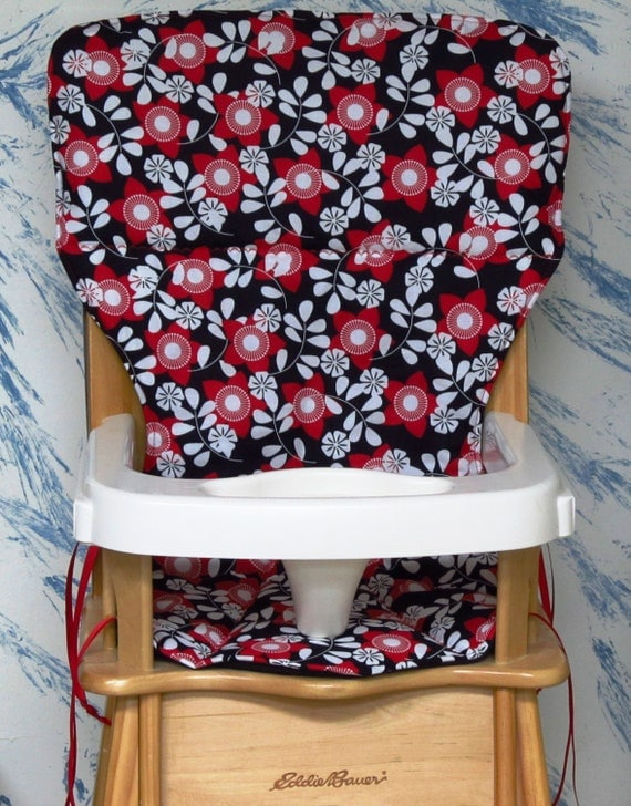 Eddie Bauer Jenny Lind Wood High Chair Cover Padred Flowers