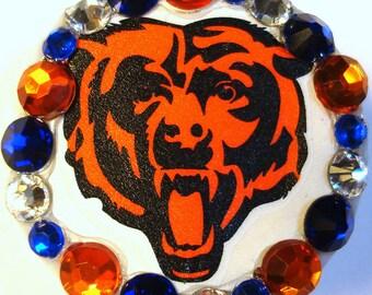 Chicago Bears Rhinestone & Swarovski Crystal Embellished ID Badge Reel