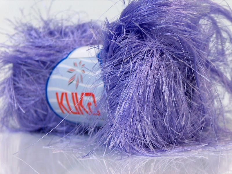 Eyelash Yarn : ice yarns jungle novelty long eyelash yarn lavender by Yarniness