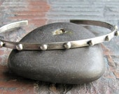 Sterling Silver Skinny Stacking Cuff Bracelet - Orbit
