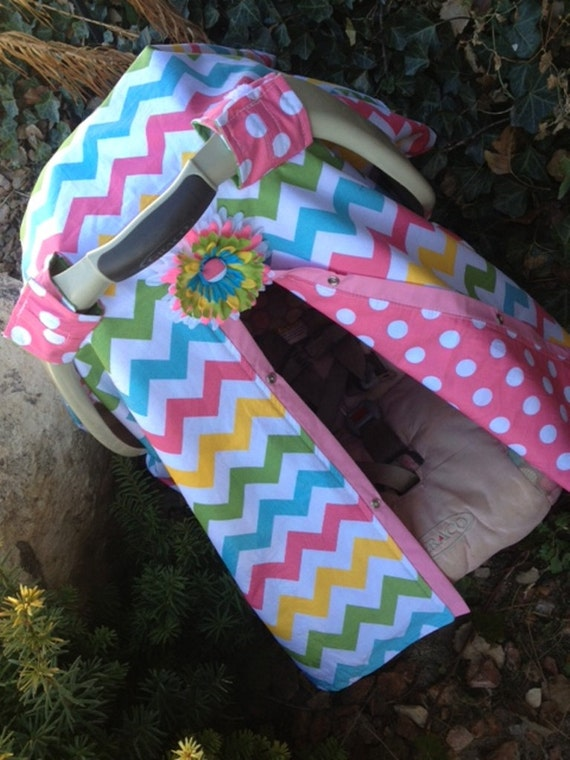 Carseat canopy Chevron / car seat cover / nursing cover / carseat canopy / carseat cover