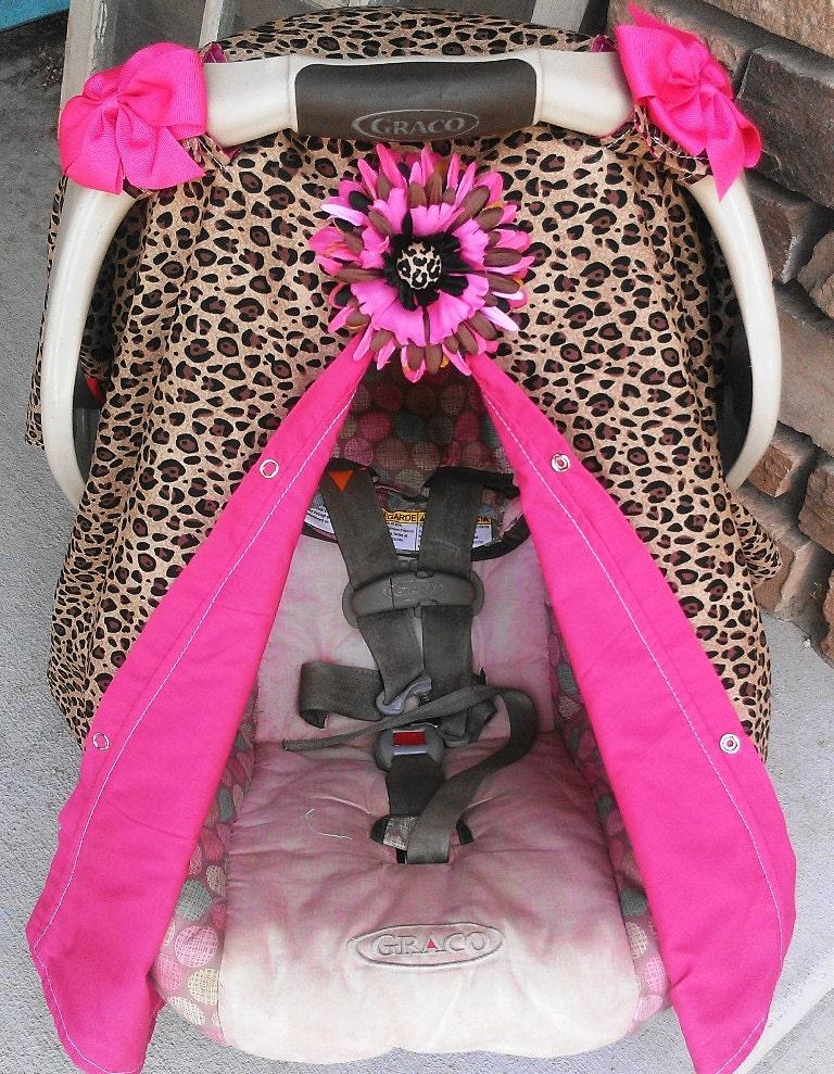 Cheatah Print Car Seat Cover Cheetah Print Girl Carseat
