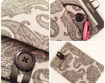 Gray W/ Black Paisley Kindle Cover