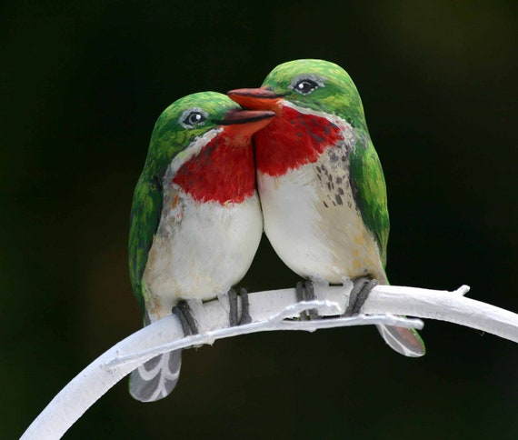 Items Similar To Puerto Rican Tody Love Birds Handmade
