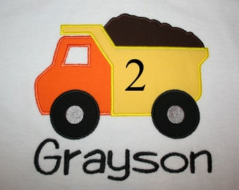 Cute Dump truck Birthday Shirt