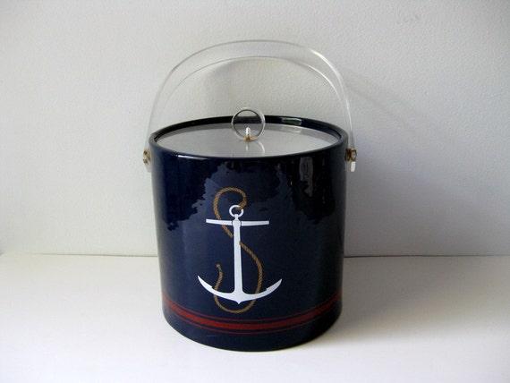 Vintage nautical ice bucket