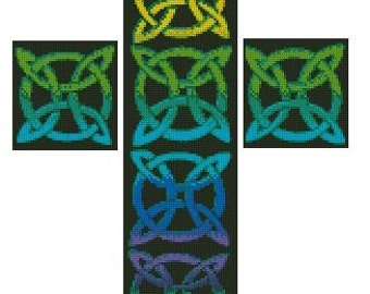 Celtic Cross Cross Stitch Printed Pattern