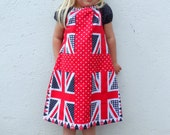 Polka Dot and Gingham Union Jack Dress Age 3