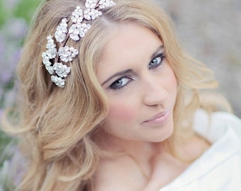 Bridal headdress / wedding headband / bridal headpiece / bridal hair accessory / GODDESS