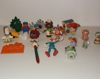 Large Group of Vintage 1980s-90s Plastic Childrens Toys - Toy Story Figures, Toys, Buzz Lightyear