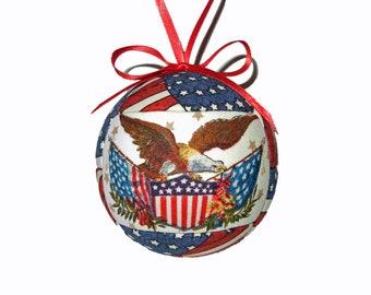 Patriotic Kimekomi Christmas Ornament Handmade by CraftCrazy4U on Etsy