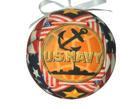 United States Navy Handmade Christmas Ornament Quilted Ornament for Dad Father Ready To Ship Homr Decor Gift by CraftCrazy4U