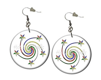Eastern Star EarringsTwirly Swirly OES Earrings Stars Earrings