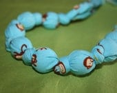 Natural Wood & Cotton Teething Necklace, ECO-FRIENDLY