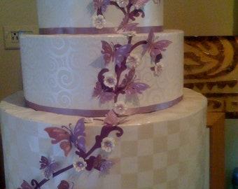Custom Wedding cake card box