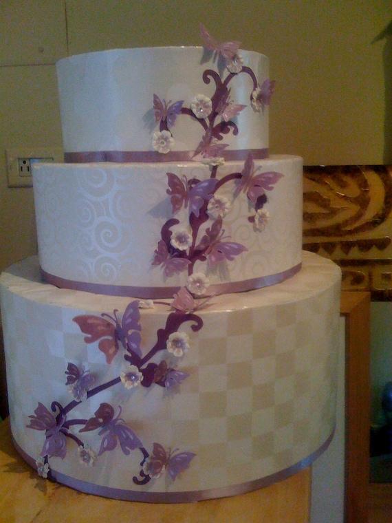 Design Your Own Cake Box : Custom Wedding cake card box