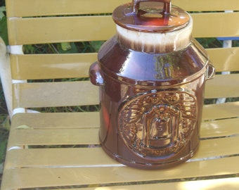 Vintage McCoy Bicentennial Liberty Bell Milk Can Cookie Jar