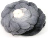Baby alpaca Combed Top - spinning fiber - Shades of Gray gradient