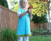 Girls Outfit by anna leigh.. perfect dress with leggings made to order 12m 2t 3t 4t 5t ruffles and polka dots gorgeous
