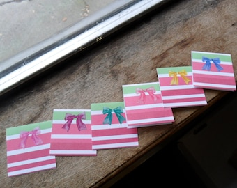 Christmas mini cards, holiday cards, thank you cards, blank cards (6)