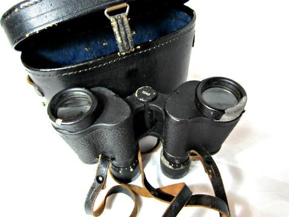 Antique Binoculars German Made 1940s Hartmann-Optik Wetzlar 117 6X30