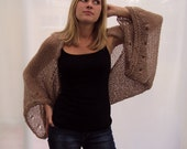 Spring Sale - Free shipping - Knitted Beige Yarn Bolero
