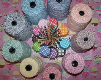 """Baker's Twine In 11 Pretty Colors-You receive 4 Yards Each color/44 Yards(132 feet) Bakers Twine """"SALE""""-"""""""""""