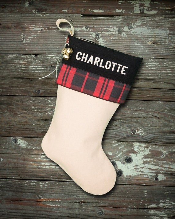 Wool Embroidered Personalized Christmas Stockings