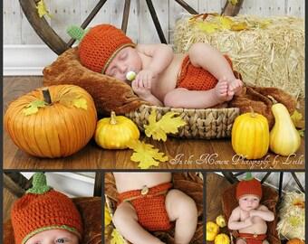 SALE Pumpkin Photo Prop Set Infant Sizes Available