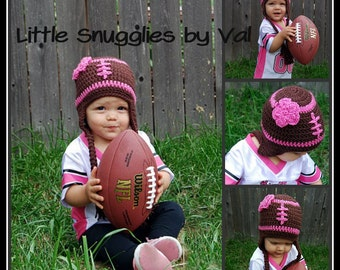 LSBV Girly Football Hat Infant-Adult Sizes Available