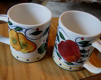 Ceramic Cups/ Mugs set of 3 Tuscany by JAY Imports/ Collectible Mugs