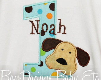 Birthday Shirt, Dog Birthday Shirt, Number, Monogrammed, Custom Colors, Girls Birthday Shirt,Tank,Bodysuit,Romper,Sizes 3m to 12yrs,Gift